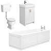 Chatsworth White Bathroom Suite Inc. 1700 x 700 Bath with Panels profile small image view 1