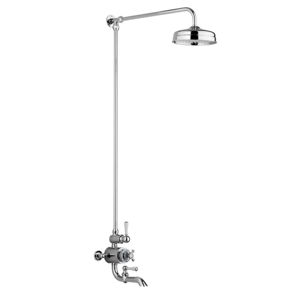 Chatsworth 1928 Traditional Thermostatic Shower with Rigid Riser & Bath Tap