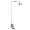 Chatsworth 1928 Traditional Thermostatic Shower with Rigid Riser & Bath Tap profile small image view 1