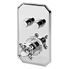 Chatsworth Traditional Twin Push-Button Shower Valve with 2 Outlets profile small image view 1