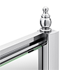 Chatsworth Chrome Shower Door + Side Panel Enclosure Concealed Screw Cover Profiles profile small image view 1