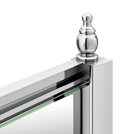 Chatsworth Chrome Shower Door Concealed Screw Cover Profiles