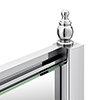 Chatsworth Chrome Quadrant Concealed Screw Cover Profiles profile small image view 1