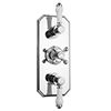 Chatsworth 1928 Traditional Triple Concealed Thermostatic Shower Valve profile small image view 1