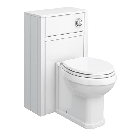 Chatsworth Traditional White Complete Toilet Unit