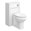 Chatsworth Traditional White Complete Toilet Unit profile small image view 1