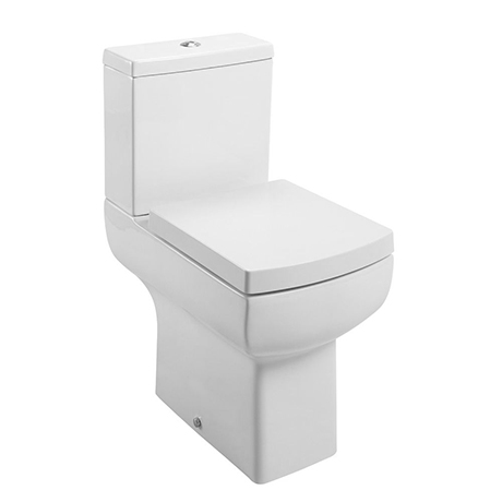 Cubo Modern Square Comfort Height Toilet + Soft Close Seat