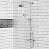 Chatsworth Traditional Crosshead Top Outlet Thermostatic Bar Shower Valve inc. Rigid Riser Kit profile small image view 1