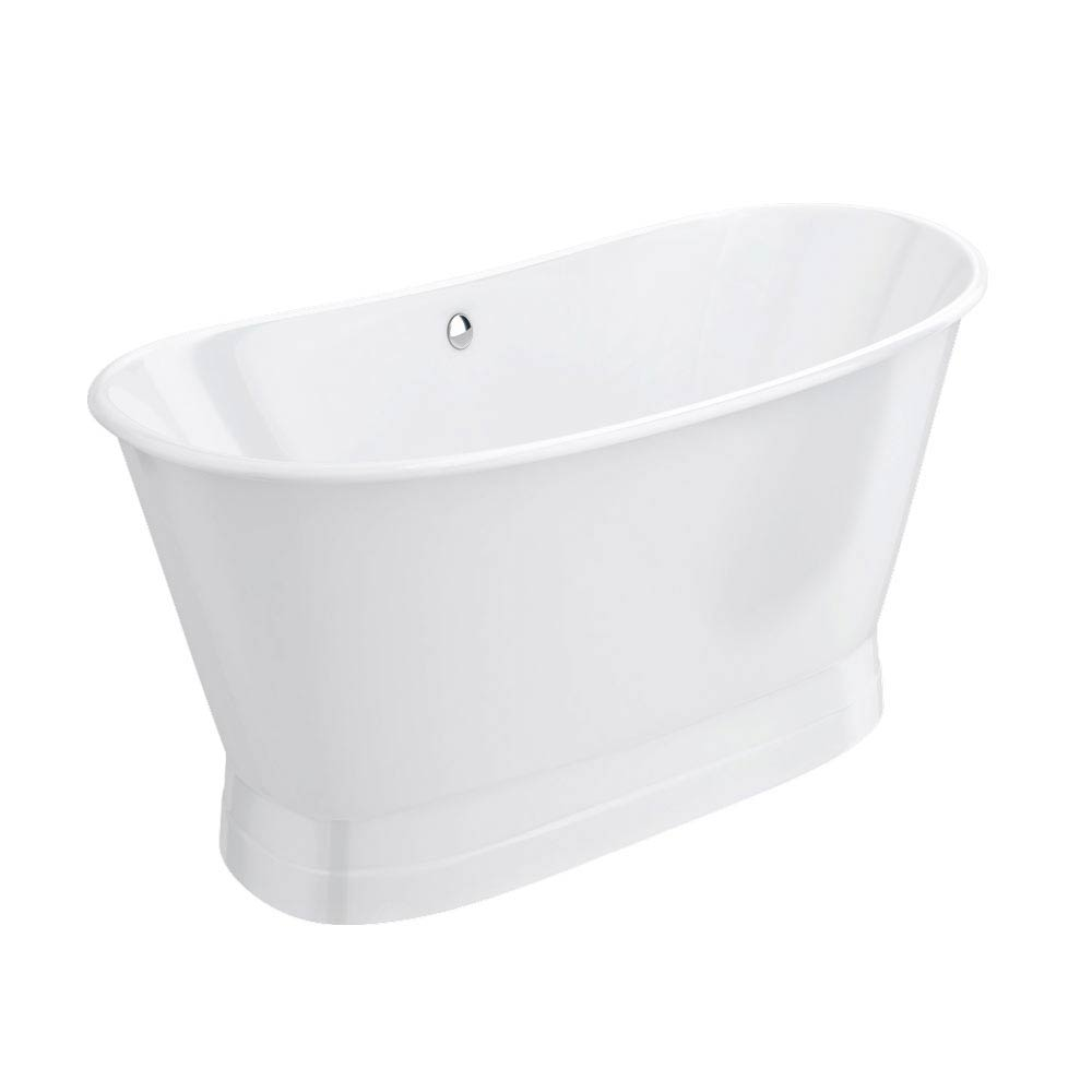 Marseille 1700 x 670mm Roll Top Cast Iron Bateau Bath profile large image view 6