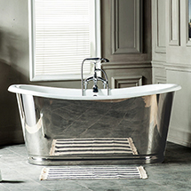 Versailles 1680 x 735mm Roll Top Cast Iron Mirror-Finish Bateau Bath Medium Image