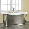 Versailles 1830 x 780mm Roll Top Cast Iron Mirror-Finish Bateau Bath profile small image view 1