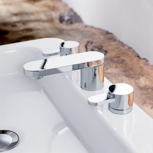 Mayfair - Cielo 3 Hole Basin Set with Click Clack waste - CIE049 profile large image view 2