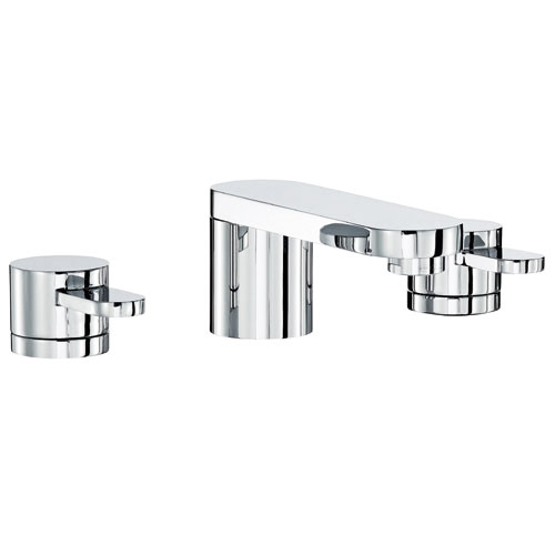 Mayfair - Cielo 3 Hole Basin Set with Click Clack waste - CIE049 profile large image view 1