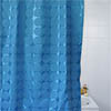 Circles W1800 x H1800mm Polyester Shower Curtain - Blue profile small image view 1