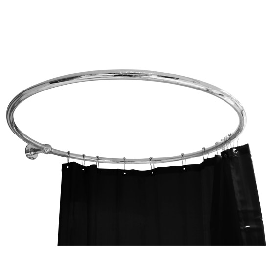 Luxury Chrome Plated Circular Shower Curtain Rail at Victorian ...