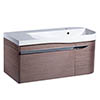 Roper Rhodes Cirrus 900mm Wall Mounted Unit & Basin - Fineline Gray - Right Hand profile small image view 1
