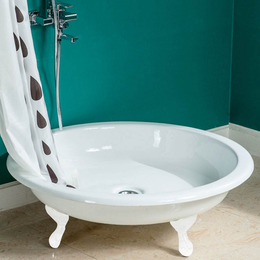 Traditional 1040mm Round Freestanding Cast Iron Shower Tray With Ball Amp Claw Feet