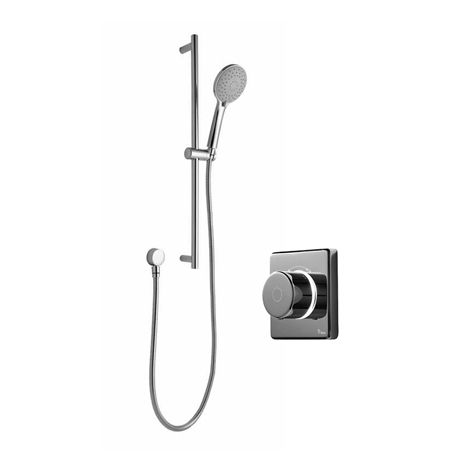 Bathroom Brands Contemporary 2025 Single Outlet Digital Shower Set with Slide Rail Kit