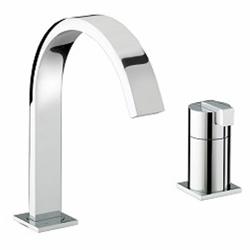 Bristan Chill Contemporary 2 Hole Bath Filler - Chrome - CL-2HBF-C Large Image