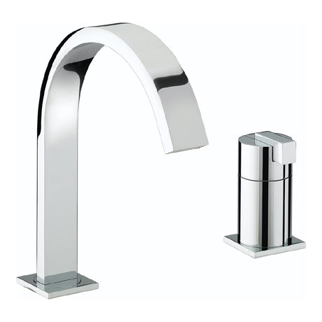Bristan Chill Contemporary 2 Hole Bath Filler - Chrome - CL-2HBF-C