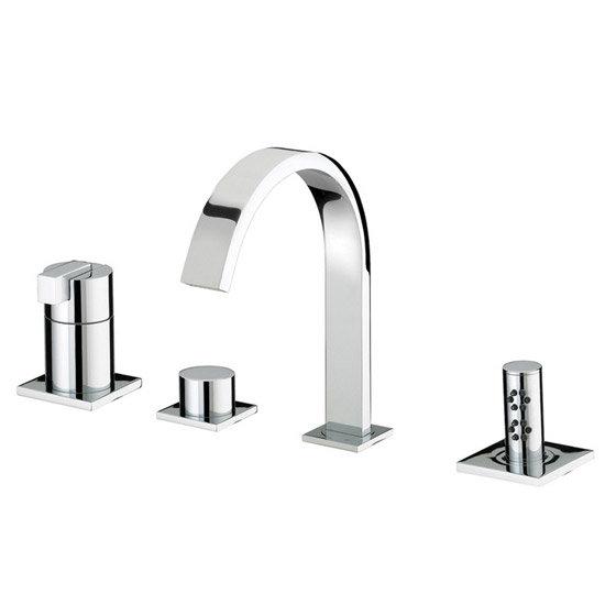 Bristan Chill Contemporary 4 Hole Bath Shower Mixer - Chrome - CL-4HBSM-C Large Image