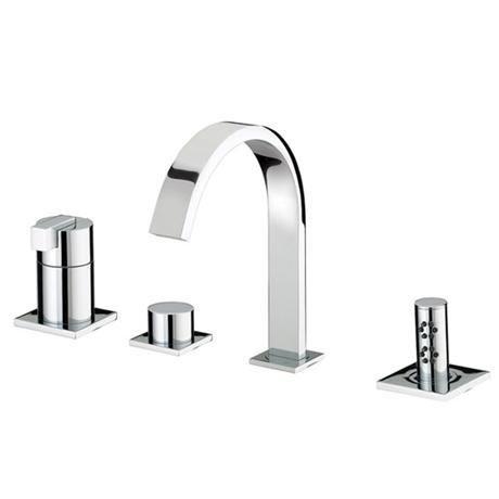 Bristan Chill Contemporary 4 Hole Bath Shower Mixer - Chrome - CL-4HBSM-C