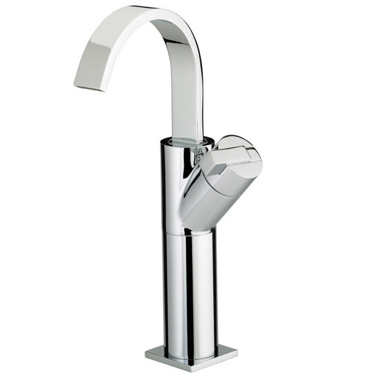 Bristan Chill Contemporary Tall Basin Mixer Tap - Chrome - CL-TBAS-C profile large image view 1