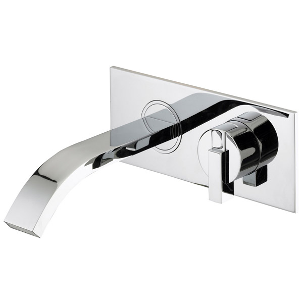 Bristan Chill Contemporary Wall Mounted Bath Filler - Chrome - CL-WMBF-C Large Image
