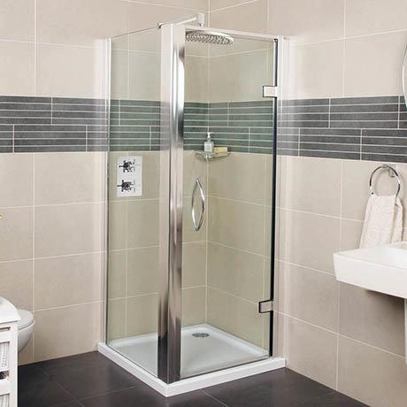 Roman Collage Hinged Shower Door