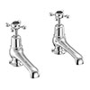 "Burlington Claremont Black Basin Taps 5"" profile small image view 1"