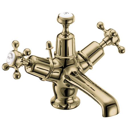 Burlington Gold Claremont Basin Mixer with Pop-up Waste