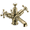 Burlington Gold Claremont Basin Mixer with Pop-up Waste profile small image view 1