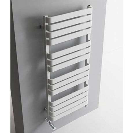 Bauhaus Celeste Towel Rail - 500 x 1100mm - Soft White Matte profile large image view 2
