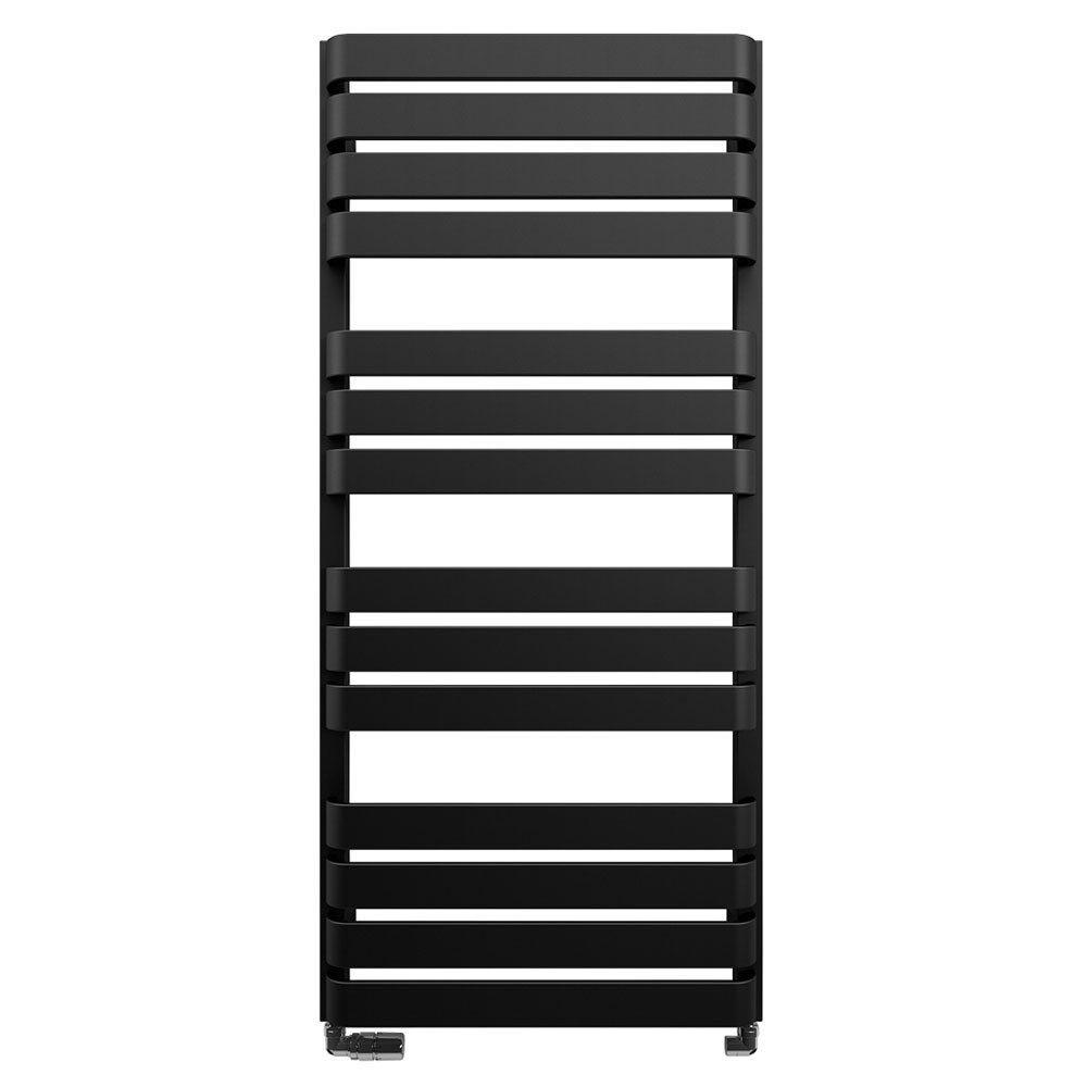 Bauhaus Celeste Towel Rail - 500 x 1100mm - Metallic Black Matte Large Image