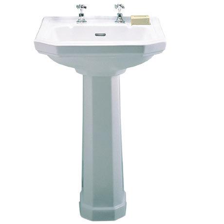Twyford Clarice 580mm 2TH Basin & Pedestal