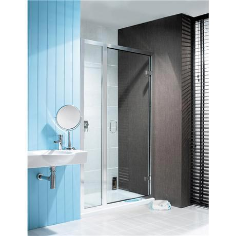 Simpsons - Classic Hinged Shower Door with Inline Panel - 3 Size Options