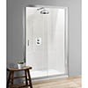 Simpsons - Classic Single Slider Shower Door - 4 Size Options profile small image view 1