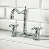 Britannia Classic Bridge Sink Mixer - Chrome profile small image view 1