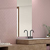 Coleford Rose Pink Chevron Effect Wall Tiles - 300 x 75mm Small Image
