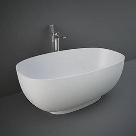 RAK Cloud Matt White Freestanding Bath (1400 x 753mm)