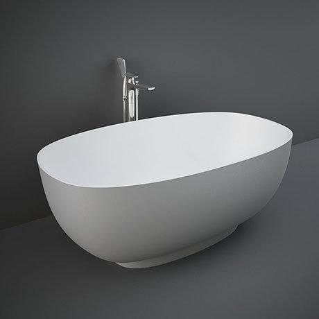 RAK Cloud 1400 x 753mm Freestanding Bath - Matt Grey