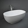 RAK Cloud Matt Grey Freestanding Bath (1400 x 753mm) profile small image view 1