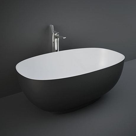 RAK Cloud 1400 x 753mm Freestanding Bath - Matt Black