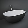 RAK Cloud Matt Black Freestanding Bath (1400 x 753mm) profile small image view 1