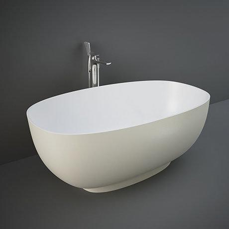 RAK Cloud 1400 x 753mm Freestanding Bath - Matt Greige