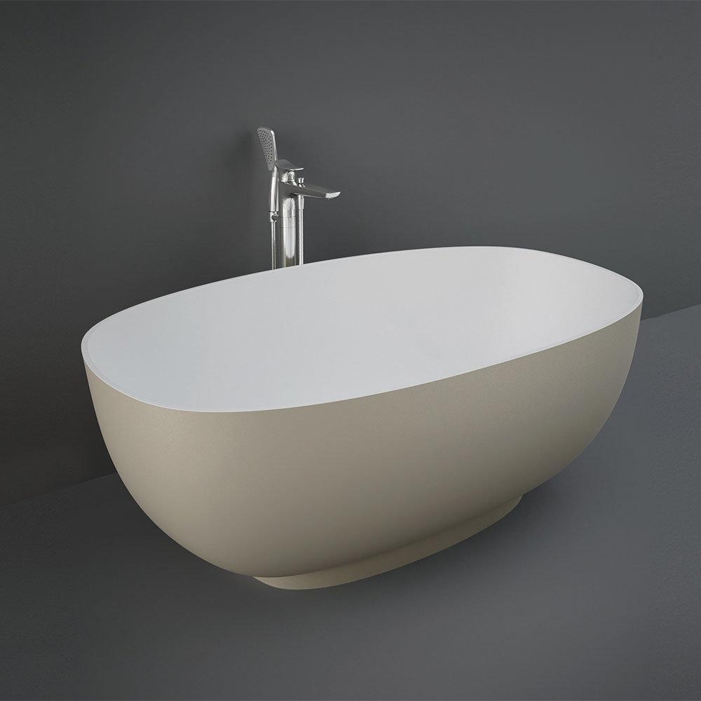 RAK Cloud Matt Cappuccino Freestanding Bath (1400 x 753mm)