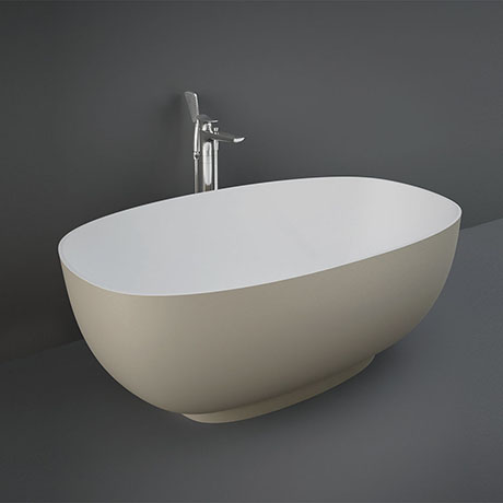 RAK Cloud 1400 x 753mm Freestanding Bath - Matt Cappuccino