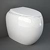 RAK Cloud Rimless Back To Wall Pan + Soft Close Seat - Gloss White profile small image view 1