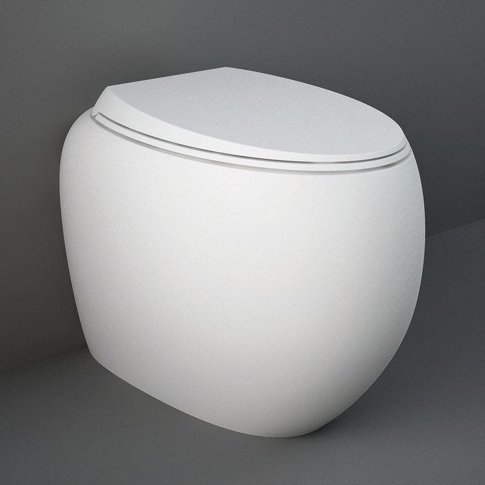 RAK Cloud Rimless Back To Wall Pan + Soft Close Seat - Matt White