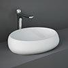 RAK Cloud 58cm Counter Top Basin - Matt White profile small image view 1